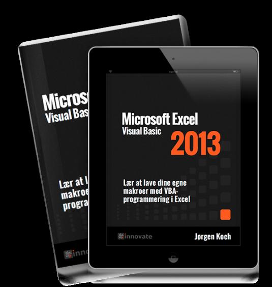 Excel 2013 VBA - bog og ipad