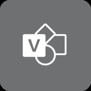 Visio-logo (gråt)